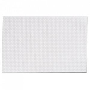 Protectie masa dreptunghiulara alba din PVC 30x45 cm Trend Zeller