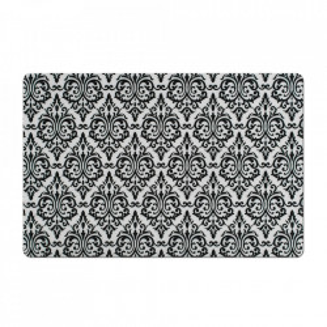 Protectie masa dreptunghiulara alba/neagra din polipropilena 28,5x43,5 cm Vintage Zeller