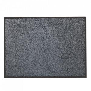 Pres dreptunghiular gri din poliamida pentru intrare 60x80 cm Washtex Lako