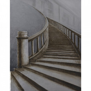 Tablou multicolor din canvas si lemn 90x120 cm Stairs Ter Halle