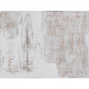 Tablou multicolor din canvas si lemn 90x120 cm Citadel Ter Halle