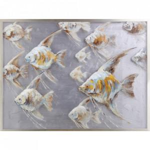 Tablou multicolor din canvas si lemn 90x120 cm Grouper Ter Halle
