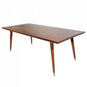 Masa dining maro din lemn de salcam 90x160 cm Mystic Invicta Interior