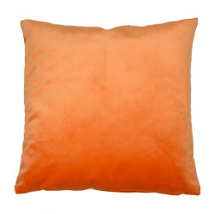 Perna decorativa patrata portocalie din catifea 45x45 cm Velia Santiago Pons