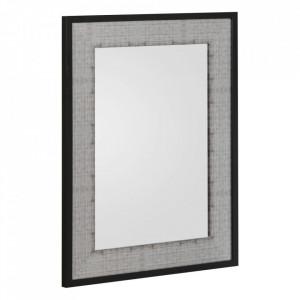 Oglinda dreptunghiulara negru/gri din MDF 58x68 cm Jemini Ixia