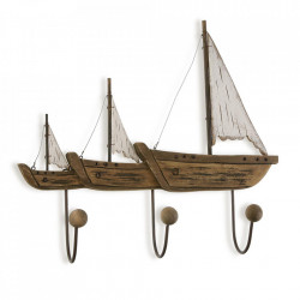 Cuier maro din lemn si metal Sails Up Versa Home