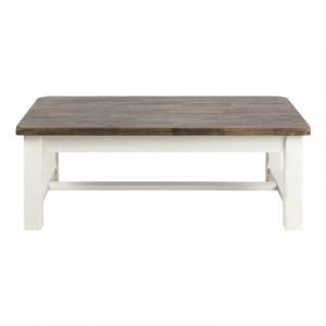 Masa alba/maro din lemn pentru cafea 75x130 cm Lyon Actona Company