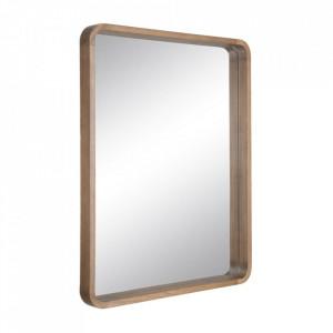 Oglinda dreptunghiulara maro din lemn de paulownia 63x78 cm Matilda Ixia