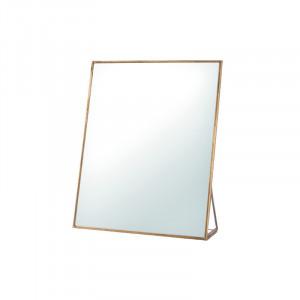 Oglinda de masa dreptunghiulara din fier 20x25 cm Figo Lifestyle Home Collection