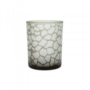 Suport maro din sticla pentru lumanare 13 cm Jafari Lifestyle Home Collection