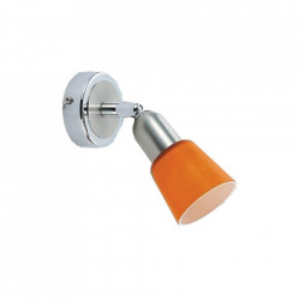 Aplica argintie/portocalie din metal si sticla Mona MW Glasberg