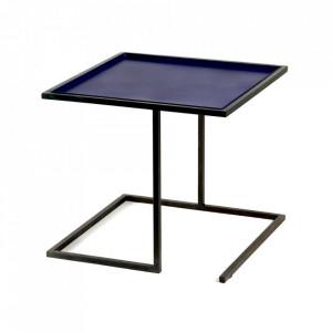 Masuta neagra/albastra din otel 44x44 cm Viha Serax