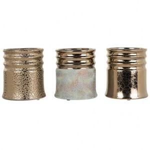Set 3 ghivece aurii din ceramica 18 cm Lara Richmond Interiors