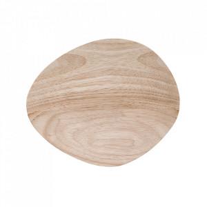 Platou maro din lemn 17x20 cm Nature Bloomingville