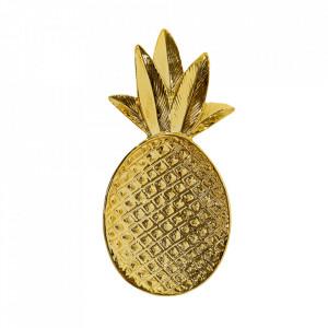 Platou auriu din ceramica 9x19 cm Pineapple Bloomingville
