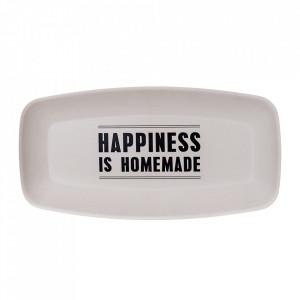 Platou alb din melamina 22x45 cm Happiness Bloomingville