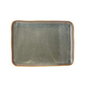 Platou maro/verde din ceramica 27x37,5 cm Aime Bloomingville