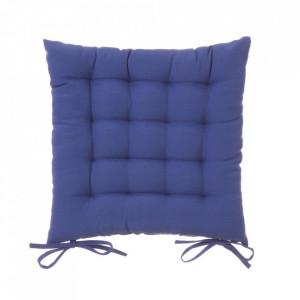 Perna patrata albastra din poliester si bumbac pentru sezut 40x40 cm Loving Colours Unimasa