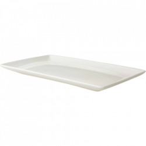 Platou alb din portelan 16x27 cm Lux Maastricht Porselein