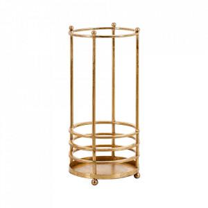 Suport auriu din fier pentru umbrele Limogues Vical Home