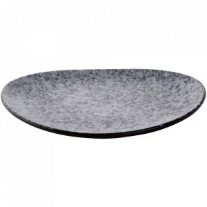Platou negru/gri din portelan 23x25,5 cm Rocks Palmer