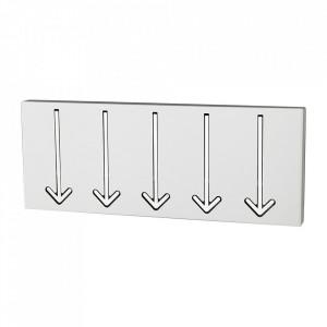 Cuier alb din metal Arrow Design Invicta Interior