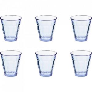 Set 6 pahare albastre din sticla 310 ml Picardie Duralex