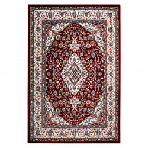 Covor rosu din poliester si iuta Isfahan Obsession (diverse dimensiuni)
