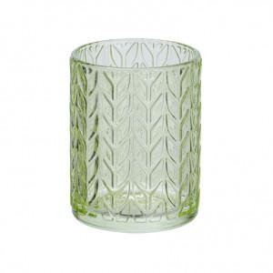 Suport verde din sticla pentru periuta dinti 7,5x10 cm Vetro Wenko