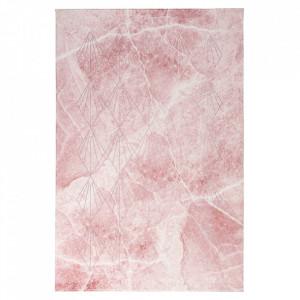 Covor roz din poliester si bumbac Palazzo Venezia Obsession (diverse dimensiuni)