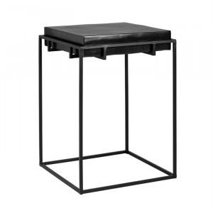 Masuta neagra din aluminiu si fier 43,5x43,5 cm Bolder Richmond Interiors