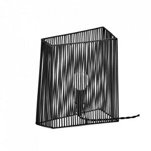 Veioza neagra din otel 26 cm Ombre Serax