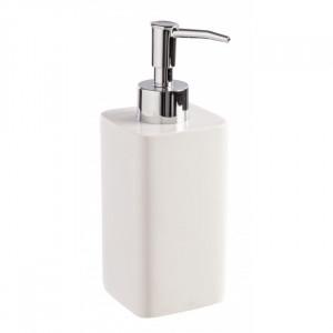 Dispenser sapun lichid alb din polirasina 6,5x18 cm Easy Bizzotto