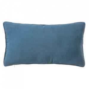 Perna decorativa dreptunghiulara albastra din poliester si bumbac 30x50 cm Loving Colours Unimasa