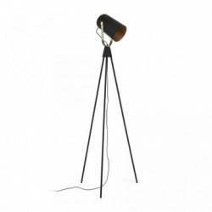 Lampadar negru ajustabil Briand La Forma