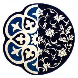 Covor rotund albastru & negru 200 cm Hybrid Andria Seletti
