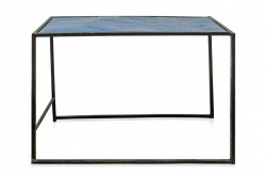 Masa neagra/albastra din fier pentru cafea 53x101 cm Old Iron Versmissen