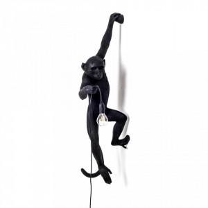 Aplica neagra din rasina The Monkey Left Seletti