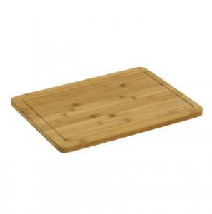 Tocator dreptunghiular maro din lemn de bambus 30x40 cm Ale Bitt Unimasa