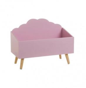 Cutie depozitare roz pentru copii din MDF Alfred Unimasa