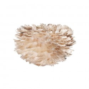Abajur maro din pene si otel Eos Micro Light Brown Umage