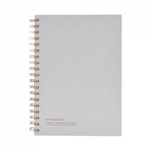 Agenda gri din hartie si fier 18x25 cm Tome Monograph
