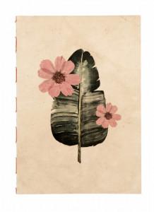 Agenda multicolora din hartie 21x30 cm Flora Large Peach Nordal