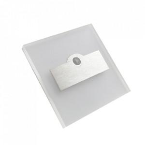 Aplica alba/argintie din aluminiu si plastic Howel M Milagro Lighting
