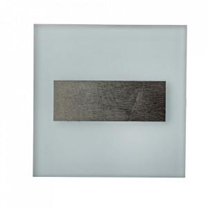 Aplica alba/argintie din aluminiu si plastic Lumi L Milagro Lighting