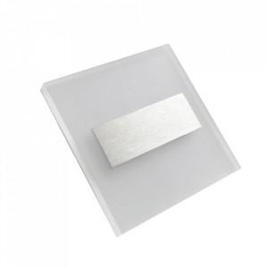 Aplica alba/argintie din aluminiu si plastic Lumi S Milagro Lighting