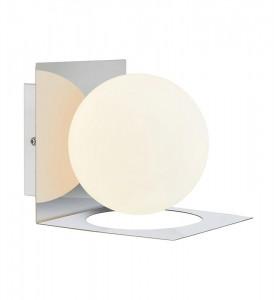 Aplica argintie din metal 13,5x16,2x13,5 cm Zenit Markslojd