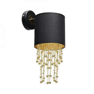 Aplica aurie/neagra din metal si textil Almeria Milagro Lighting