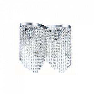 Aplica gri nichel din metal si sticla cu 2 becuri Toils Maytoni