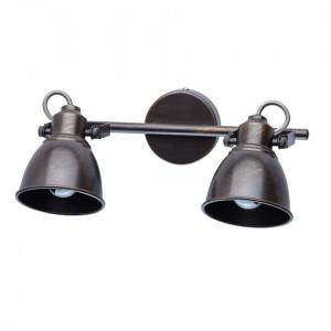 Aplica maro cafeniu/aurie din metal cu 2 becuri Orion MW Glasberg